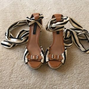 Ann Taylor Lace Up Wedge Heel Sz. 7.5